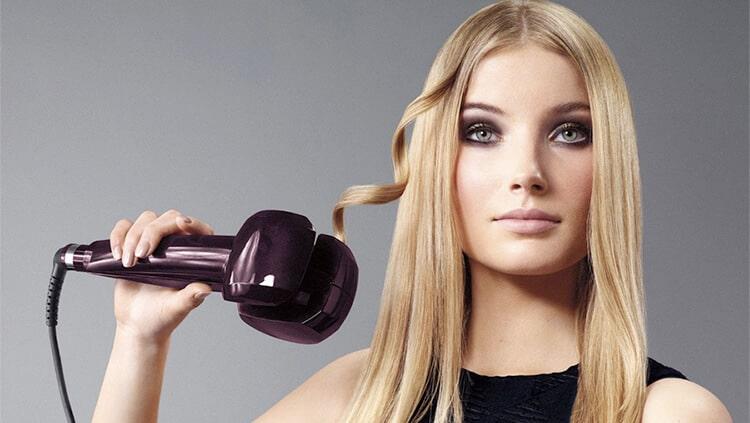فر کردن مو با دستگاه فر جادویی