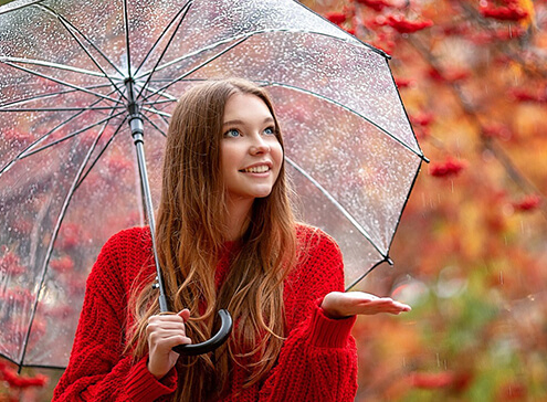 آرایش در روز های بارانی