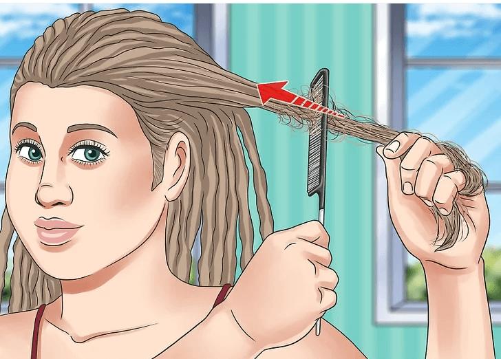 پوش دادن مو در بافت دردلاک