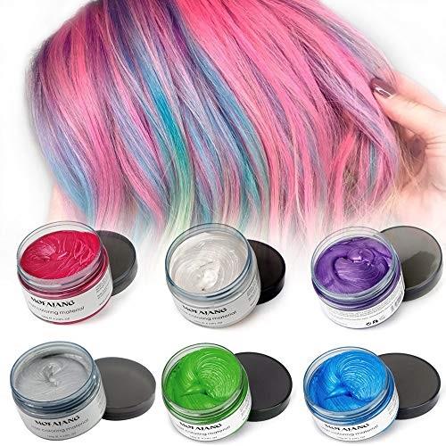 رنگ های واکس موی رنگی