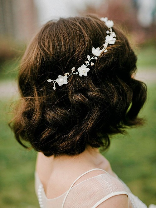مدل مو کوتاه برای عروس از پشت