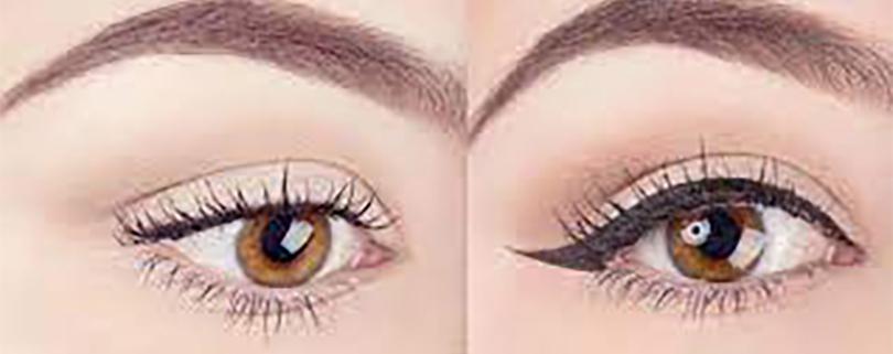 کشیدن خط چشم با چسب نواری