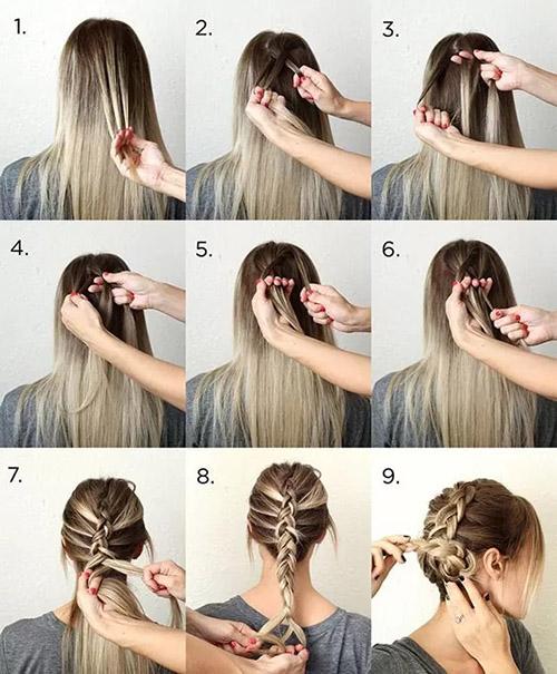 مراحل بافت موی هلندی ساده