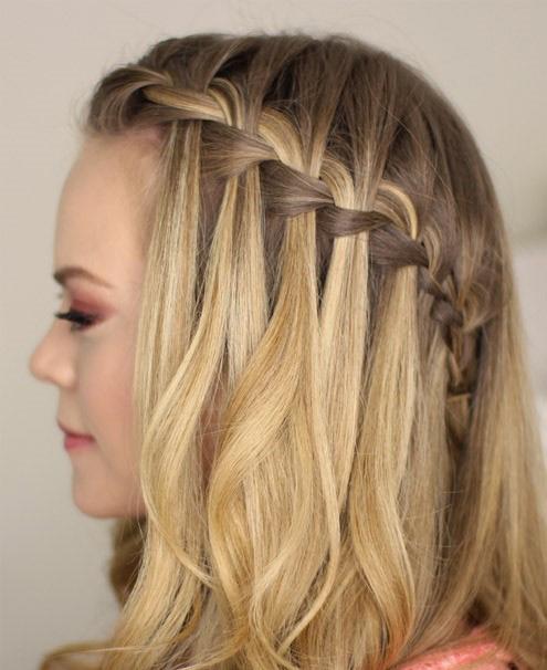 بافت مو آبشاری جلوی سر