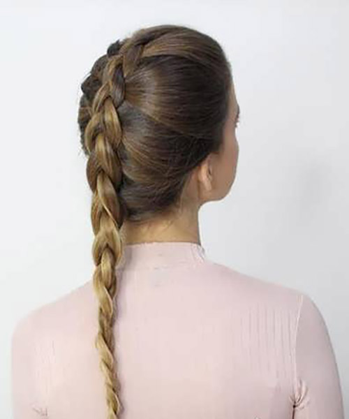 بافت مو هلندی ساده